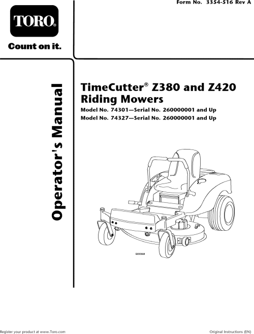 small resolution of full size in new window array toro 74327 260000001 260019999 user manual riding mower manuals rh usermanual wiki