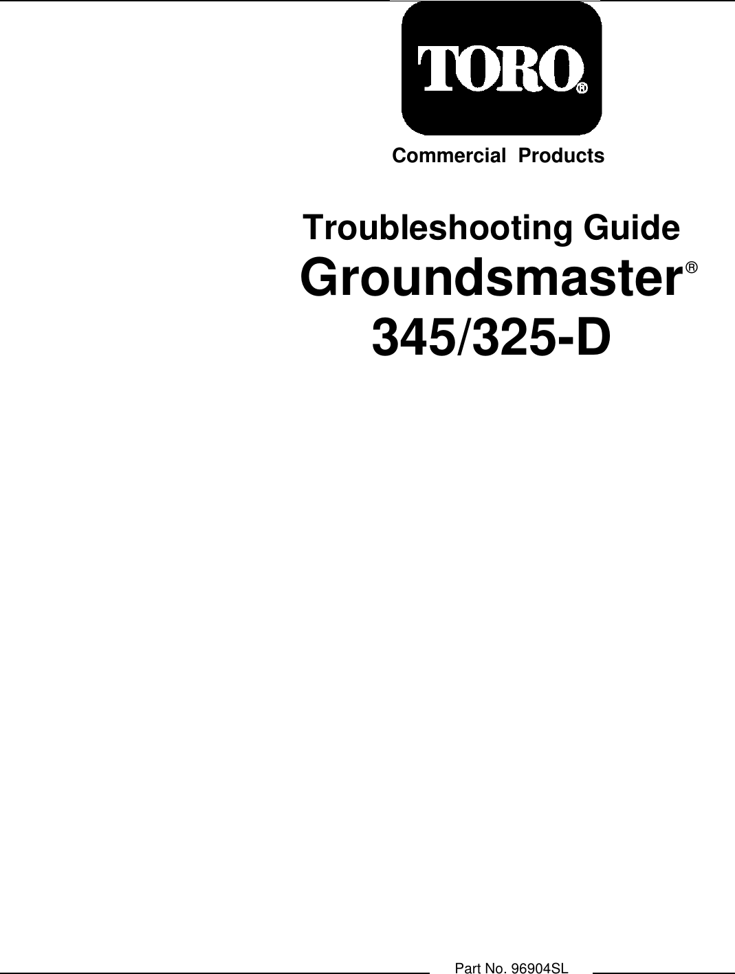 Toro Groundsmaster 325 D Users Manual