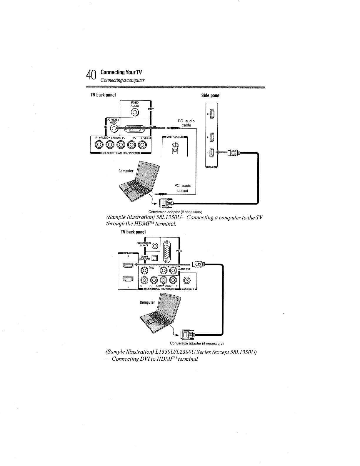 Toshiba 58L1350U User Manual LED TELEVISION Manuals And