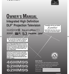 toshiba dlp 52hm95 users manual [ 1387 x 1783 Pixel ]