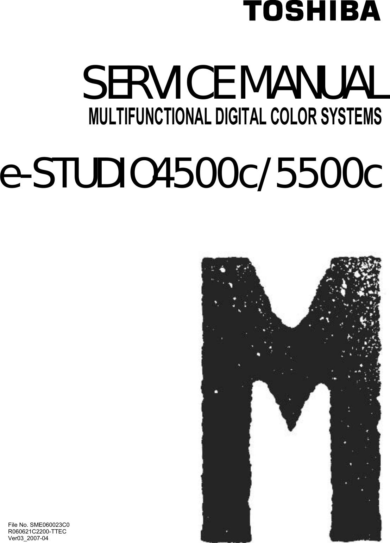 Toshiba Multifunctional Digital Color Systems E