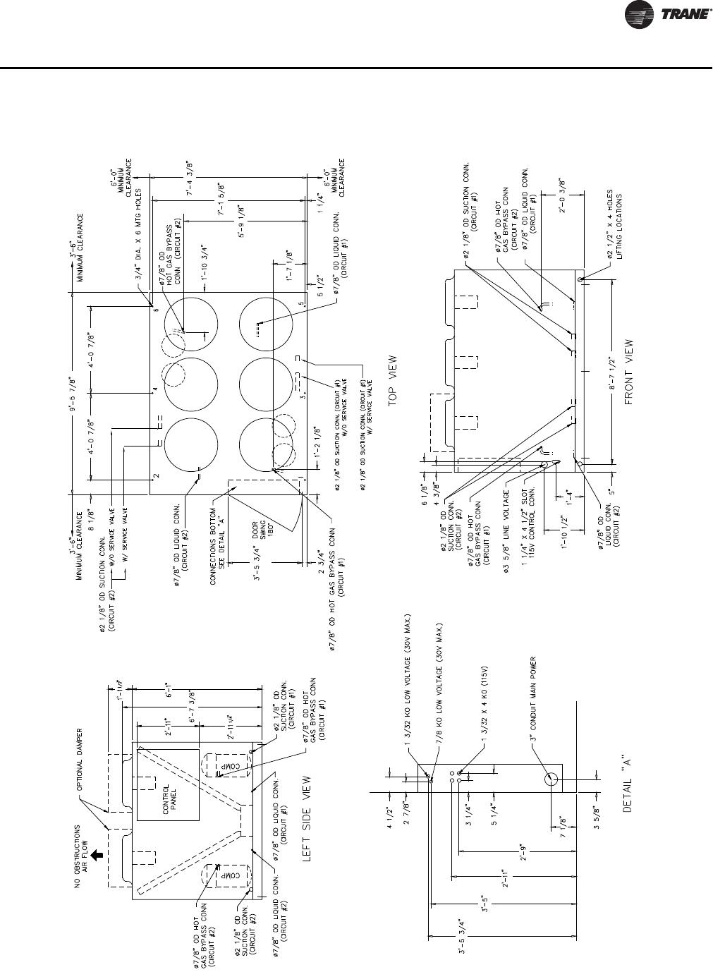 hight resolution of  trane rauc c60 ss svx09a en 05 08 remote split system units user power gear wiring diagram
