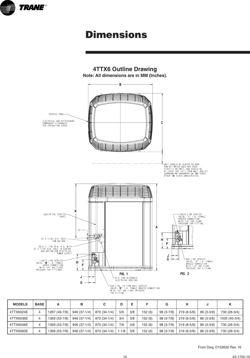 medium resolution of page 10 of 12 trane trane 4ttx6024 036 048 and