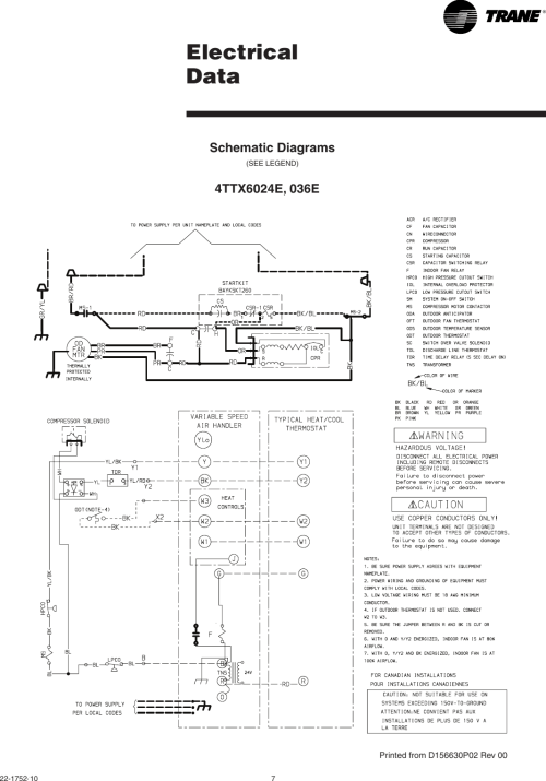 small resolution of page 7 of 12 trane trane 4ttx6024 036 048 and