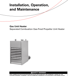 trane gas unit heaters installation and maintenance manual gand trane gas fired unit heaters wiring diagram [ 1203 x 1539 Pixel ]
