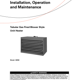 trane gas unit heaters installation and maintenance manual gbne svx001a en 11 05 2013 tubular fired blower style heater installation operation [ 1204 x 1532 Pixel ]