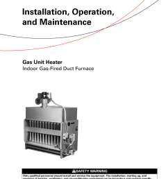 trane gas unit heaters installation and maintenance manual glnd svx01b en 03 16 2012 installation operation heater indoor fired duct furnace s gl [ 1203 x 1539 Pixel ]
