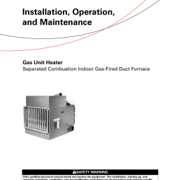 trane gas unit heaters installation and maintenance manual gmnd svx01b en 03 16 2012 installation operation heater separated combustion indoor fired duc [ 1203 x 1539 Pixel ]