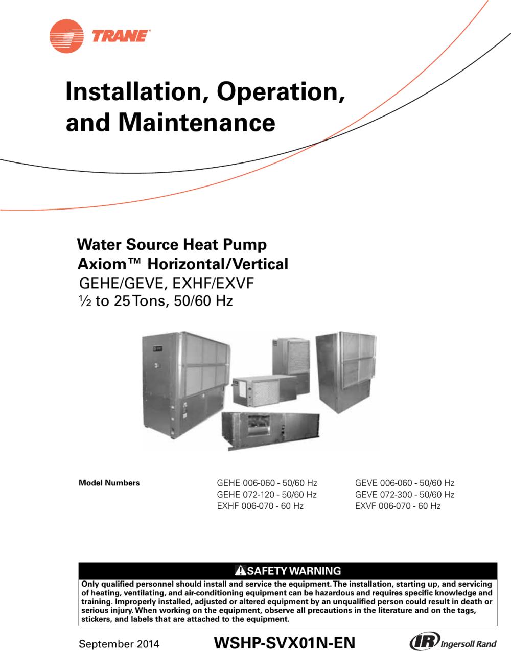 medium resolution of uc400 trane wiring diagram wiring diagram centretrane h v wshp 5 to 25 tons installation and maintenance