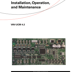 Trane Vav Wiring Diagram T1 Crossover Cable Round In Out Installation And Maintenance Manual
