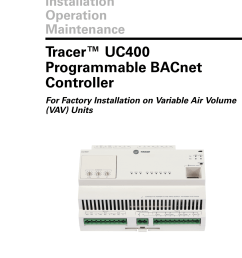 trane round in out installation and maintenance manual vav svx07a en uc400 iom [ 1050 x 1441 Pixel ]
