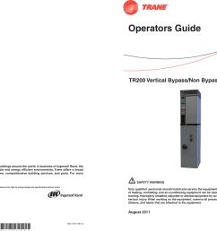trane tr200 users manual bas svx49a en 08 12 2011 vertical bypass non bypass panel operators guide [ 2406 x 1570 Pixel ]