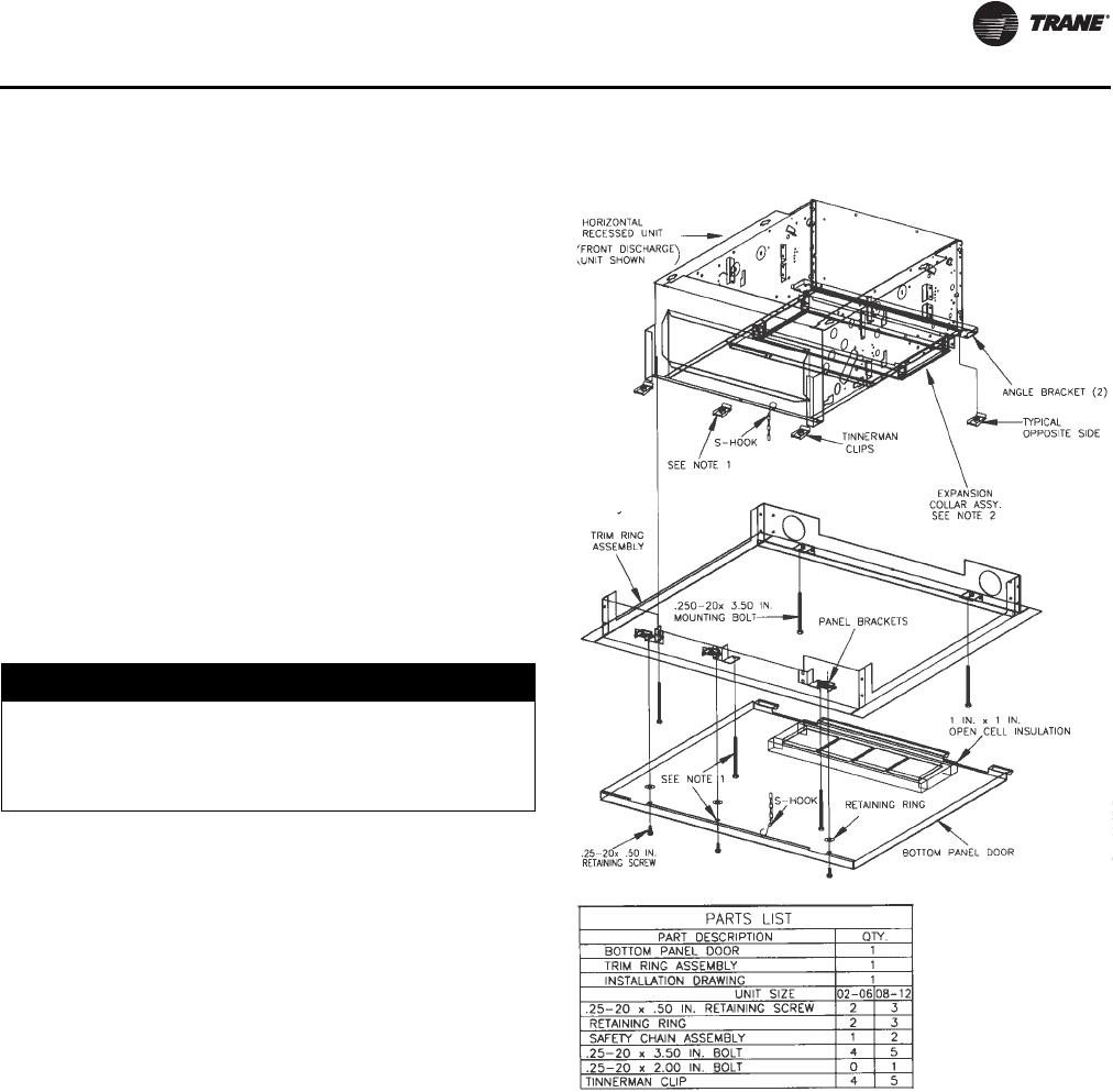 Trane Uni Fan Coil And Force Flo Installation Maintenance