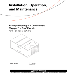 trane voyager 12 5 to 25 tons installation and maintenance manual packaged rooftop air conditioners voyager gas electric [ 1204 x 1533 Pixel ]
