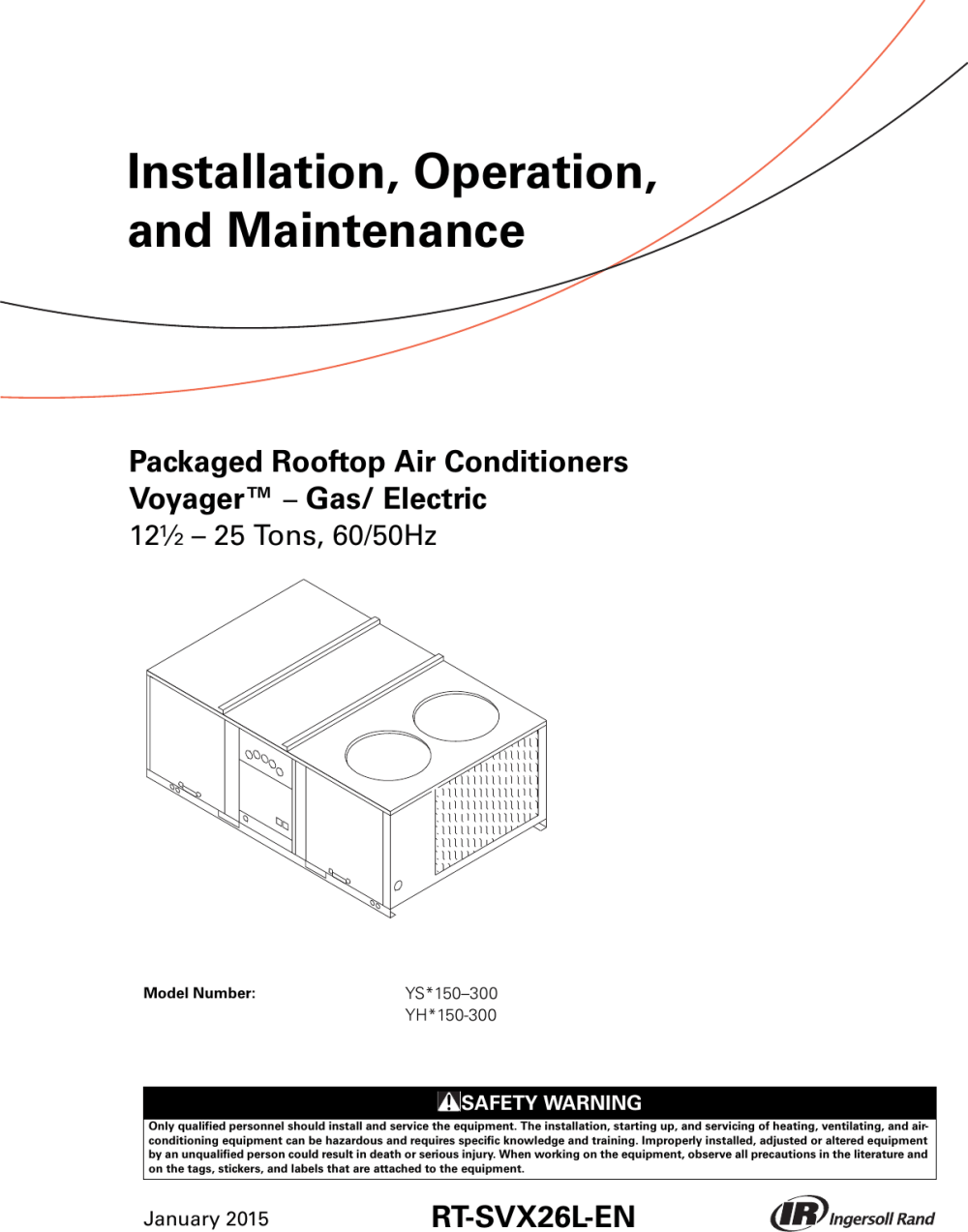 medium resolution of trane voyager 12 5 to 25 tons installation and maintenance manual packaged rooftop air conditioners voyager gas electric
