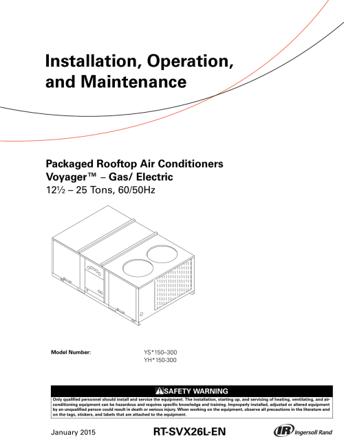 small resolution of trane voyager 12 5 to 25 tons installation and maintenance manual packaged rooftop air conditioners voyager gas electric
