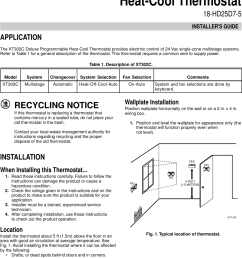 engage tabs at the top of the thermostat next xt302c newest hi tech trane trane xt302c installer s manual side refrigerator wiring diagram trane wiring  [ 1065 x 1571 Pixel ]
