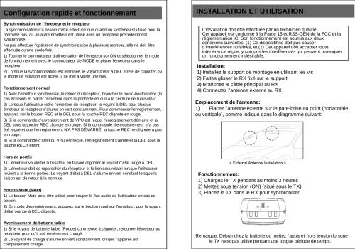 small resolution of configuration rapide et fonctionnement synchronisation de l apos metteur et le r cepteur la synchronisation n apos