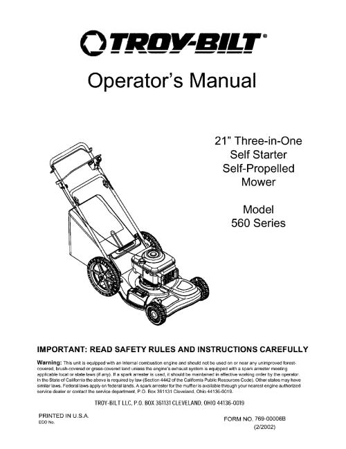 small resolution of troy bilt mower schematic