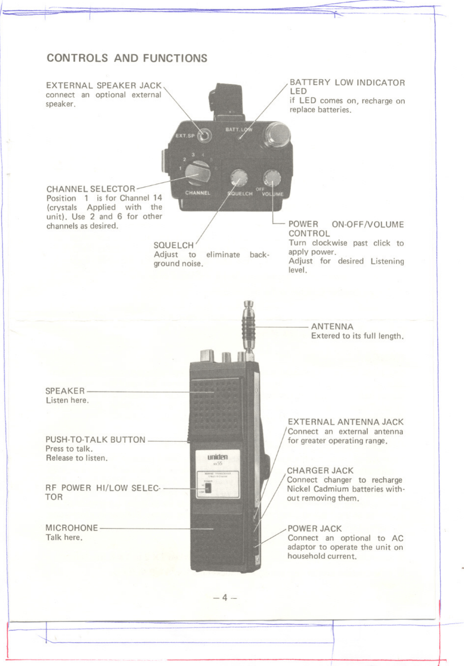 Uniden Ax55 Users Manual