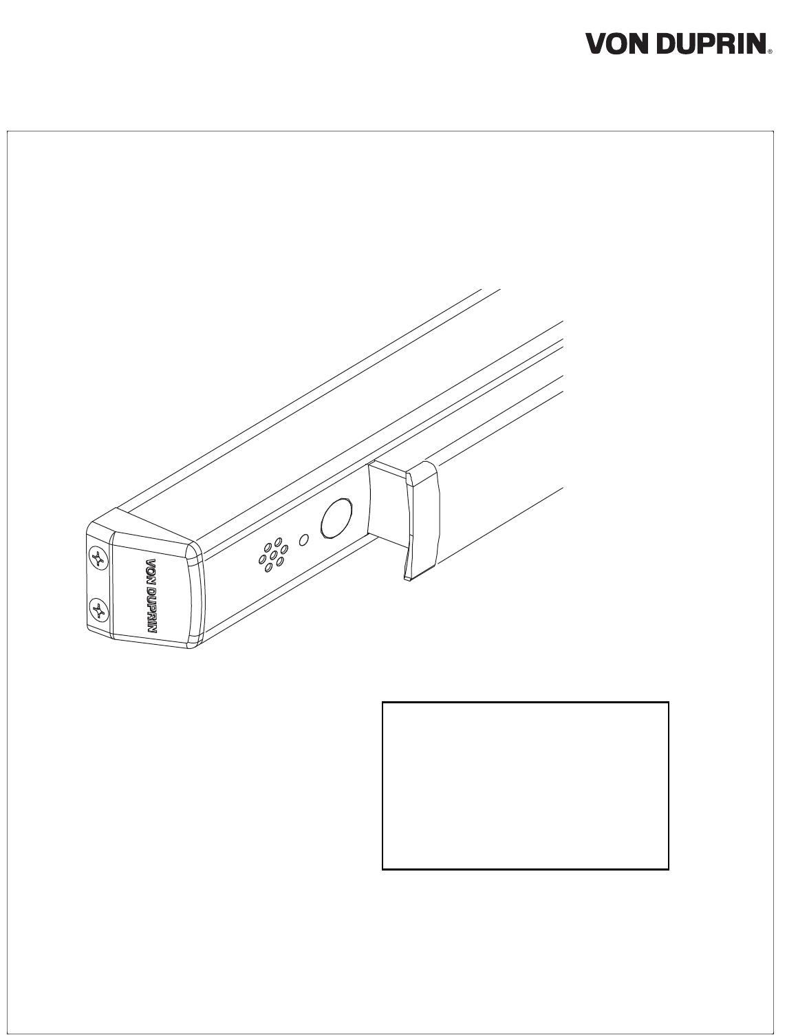 Von Duprin 941042 00_f 33/35/98/99 ALK Kit 107710