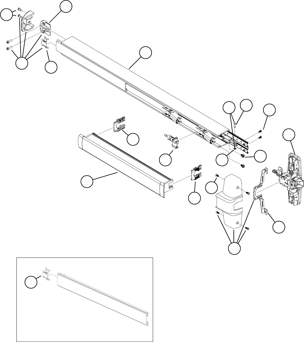 Von Duprin 98/99 Rim Exit Device Parts Manual 108730