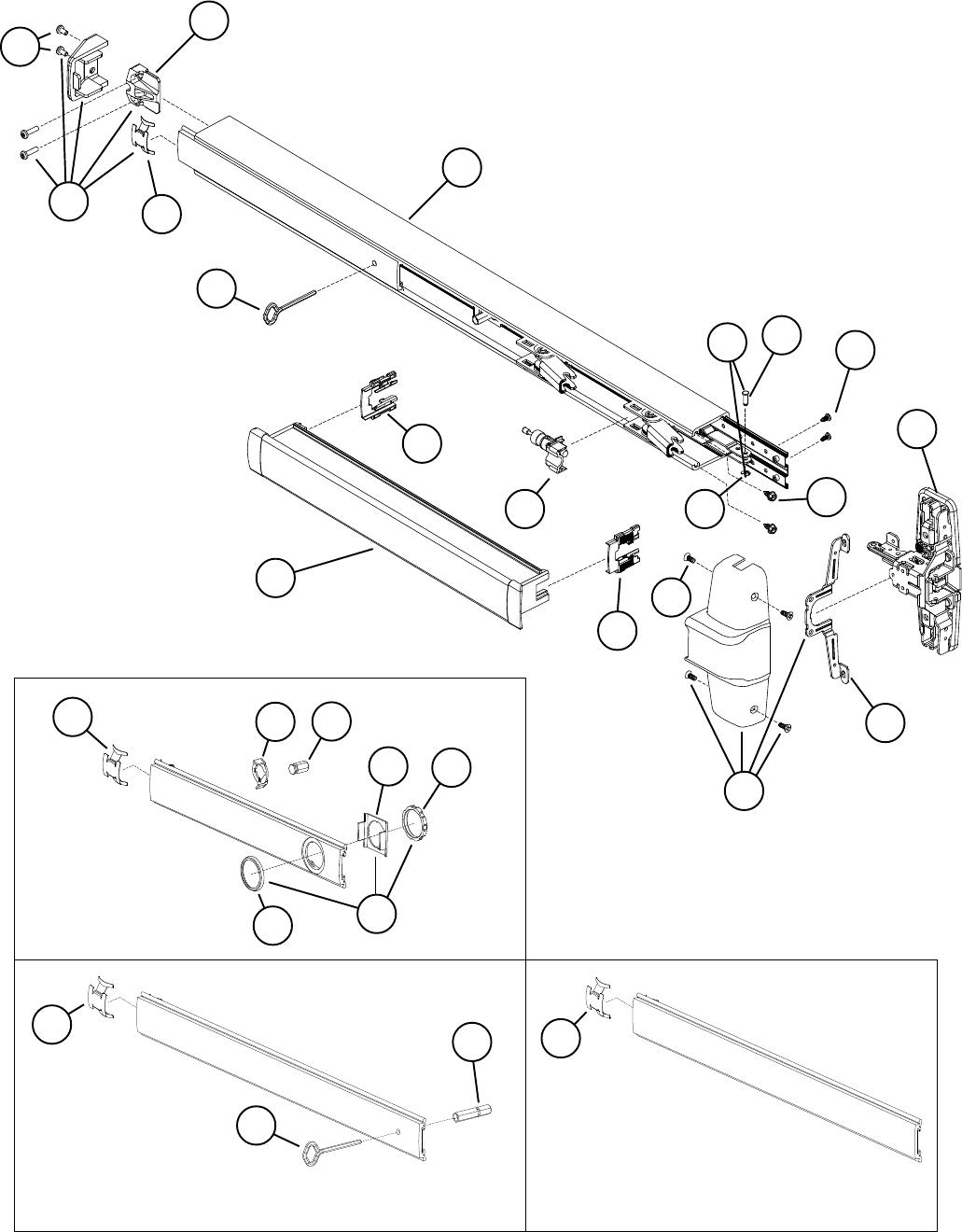 Von Duprin 98/9927 Surface Vertical Rod Exit Device 108731