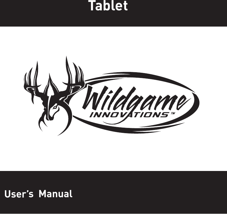 WGI Innovations VU100 Trail Tab for Android User Manual