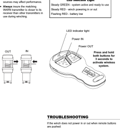 warn wireless control installation guide 9out inled indicator lightpower inpower outpress and holdboth buttons for3 seconds [ 884 x 1460 Pixel ]