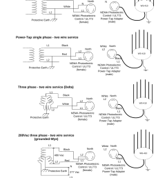 ac wiring diagramsinstallation guide 61figure 8 28 ac wiring photoelectric power tapl1l2protective earthblackwhite ws 410north [ 1006 x 1490 Pixel ]