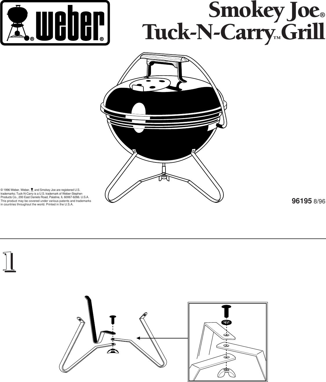 Weber Smokey Joe Grill Gold Installation Manual Tuck N