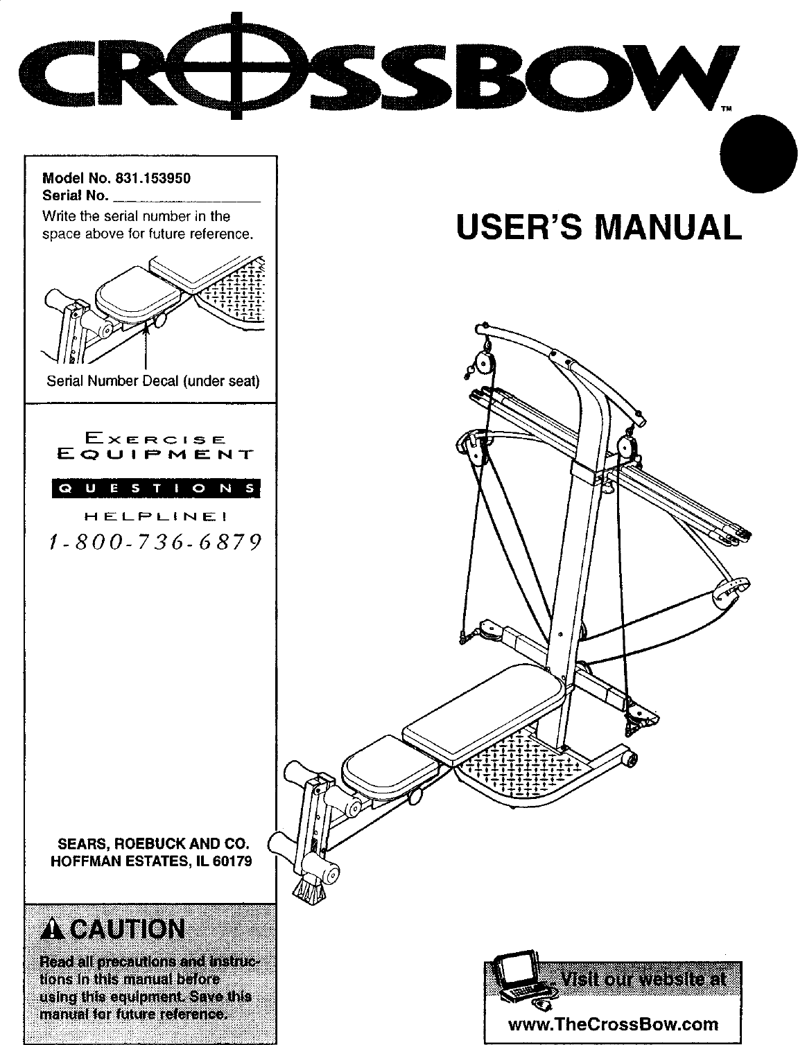 Weider 831153950 User Manual CROSSBOW Manuals And Guides