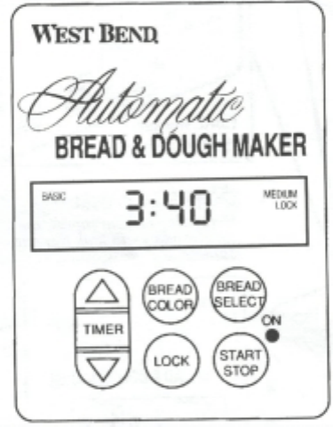 Westbend 41030 Bread Maker 1 5 Lb Owner S Manual WEST BEND