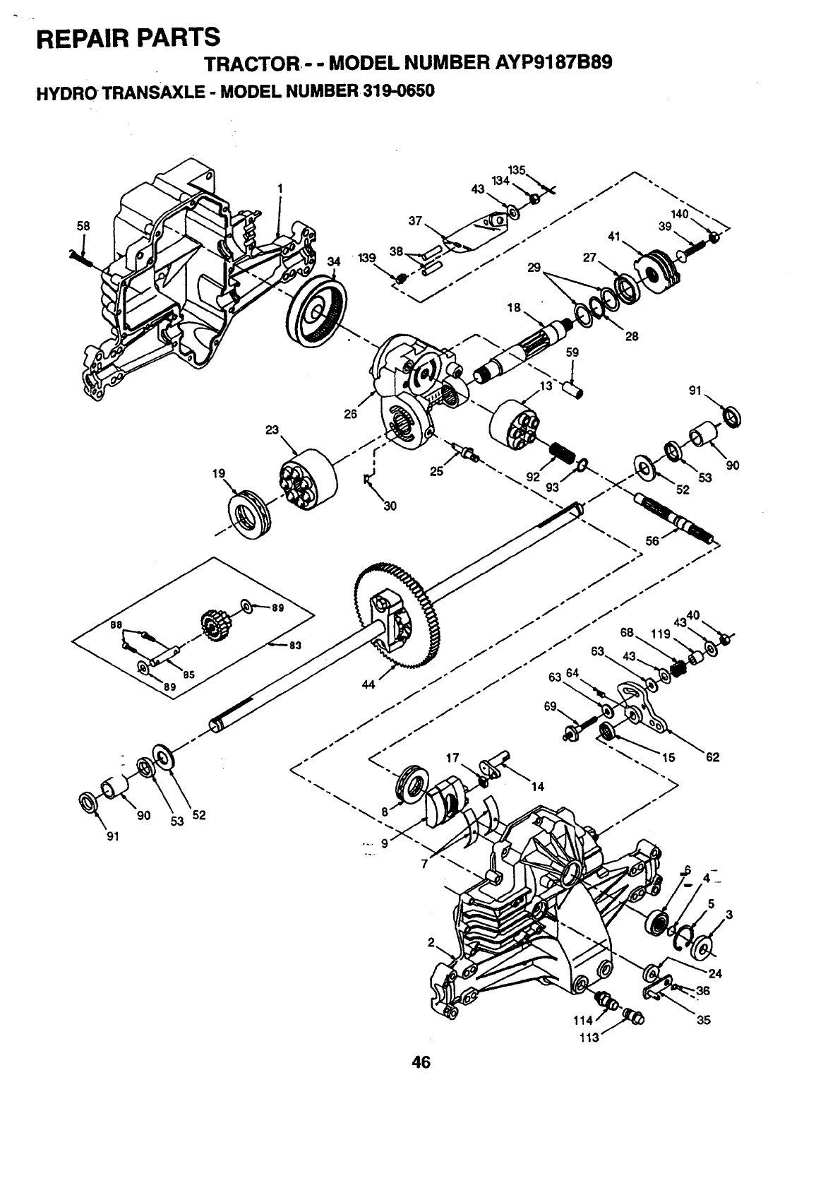 Western Auto AYP9187B89 User Manual WIZARD LAWN TRACTOR