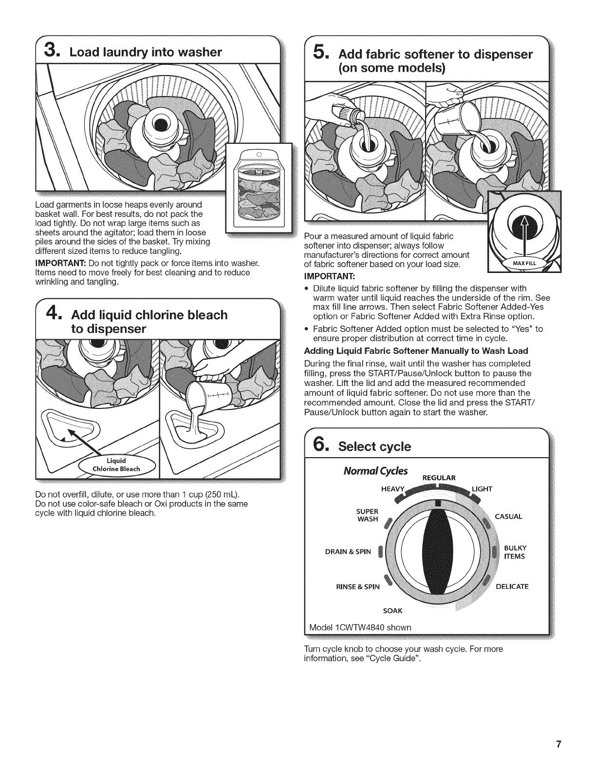 Whirlpool 1CWTW4800YQ2 1510380L User Manual WASHER Manuals