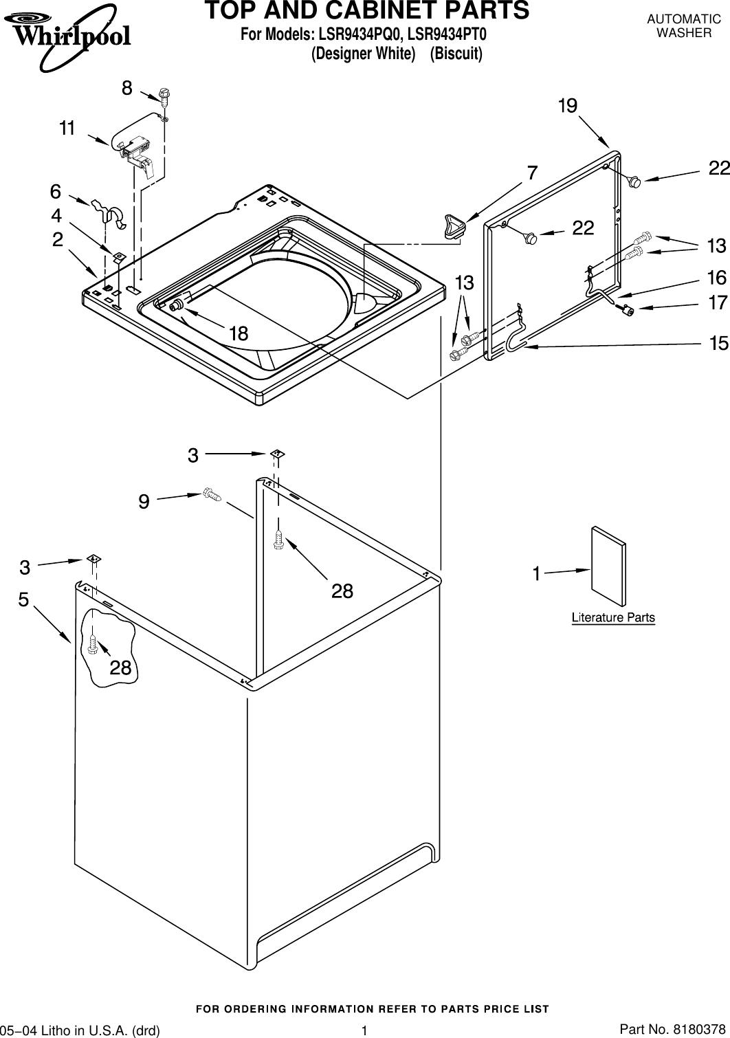 Whirlpool Lsr9434Pq0 Users Manual