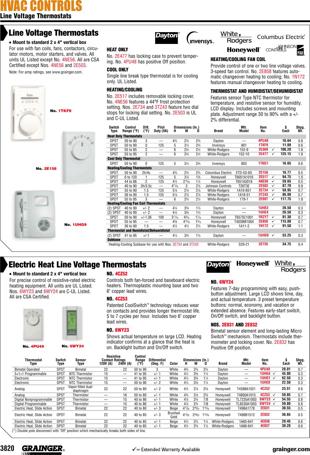 White Rodgers 2 00E158 Users Manual 3820.qxp