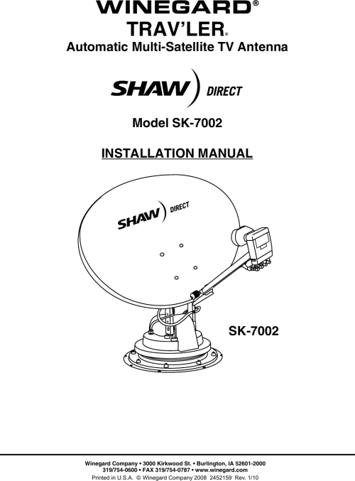 small resolution of page 1 of 12 winegard winegard satellite tv system sk