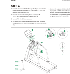 page 11 pacemaster r20 sport treadmill user manual1 insert the electronic cable line through the [ 1468 x 1117 Pixel ]