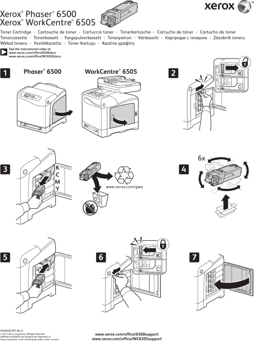 small resolution of xerox workcentre 6505 users manual phaser 6500 and toner cartridge instruction sheet 604e62670