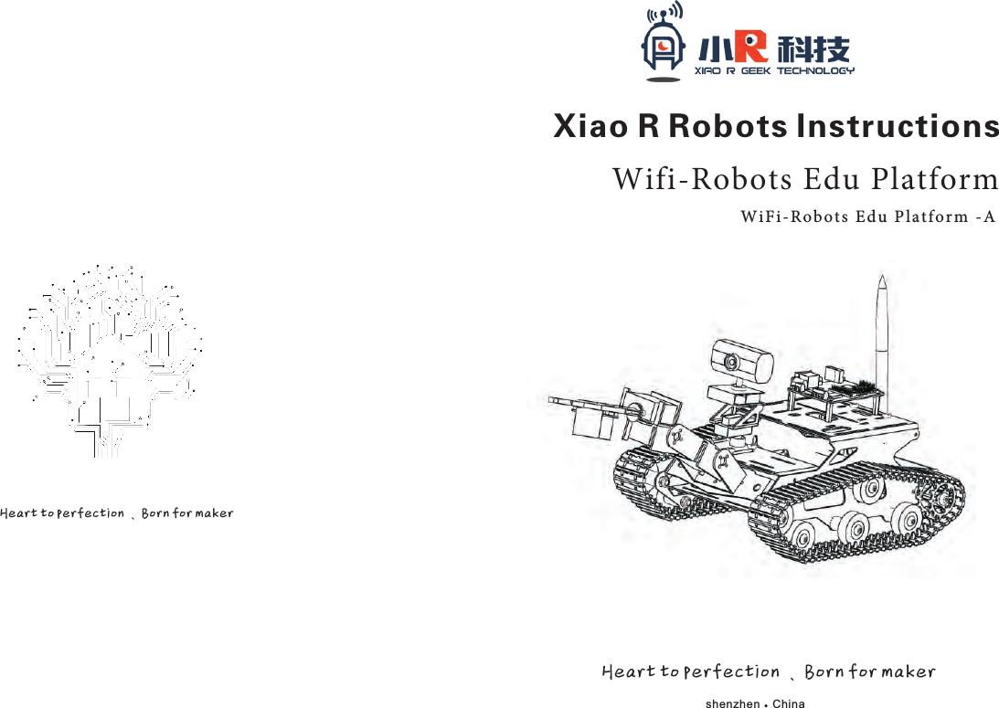 Xiao R Geek Technology THR51XR1MT1PLA Wifi-robots Edu