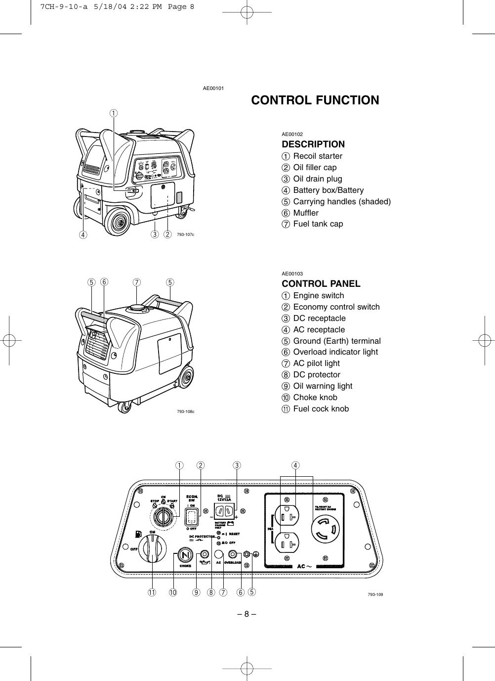 hight resolution of yamaha ef3000ise ef3000iseb owners manual ef3000ise b owner u0027syamaha ef3000iseb wiring diagram 8