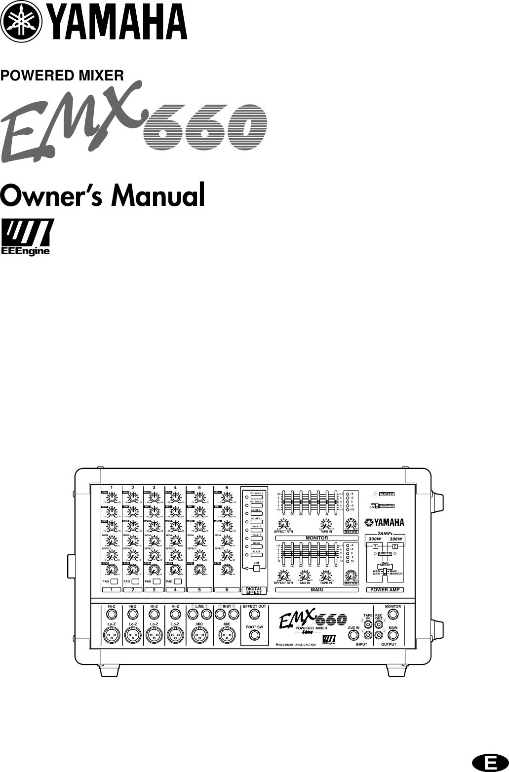 Bestseller: Yamaha Emx 660 Manual