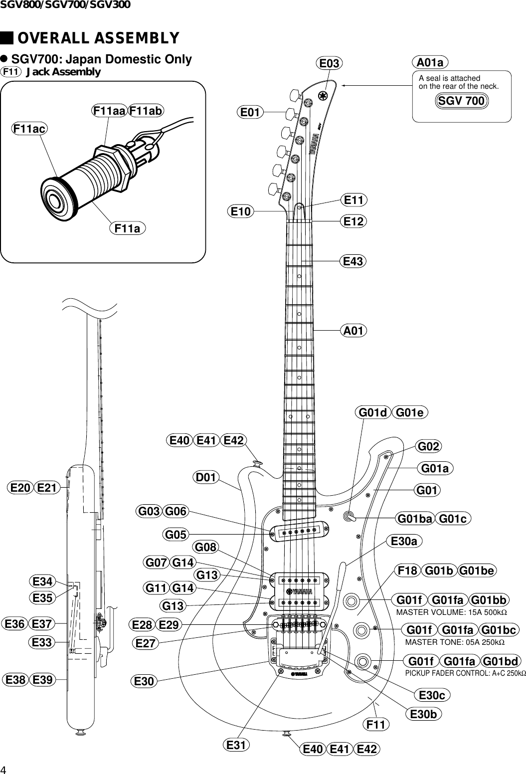 Yamaha Guitar Eg 011511 Users Manual SGV800/SGV700/SGV300