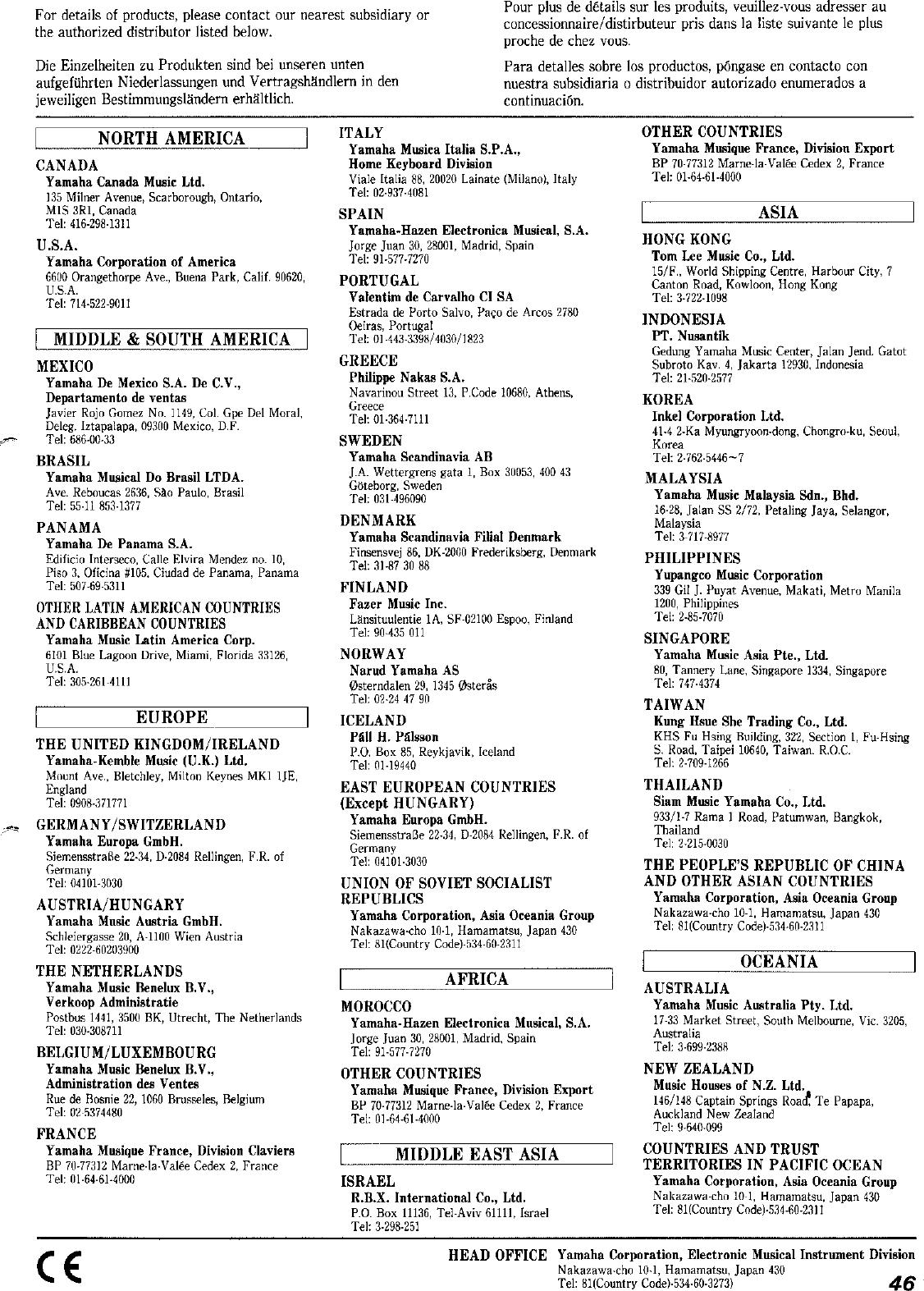 Yamaha PSS 101/PSS 102 Owner's Manual (Image) PSS102F