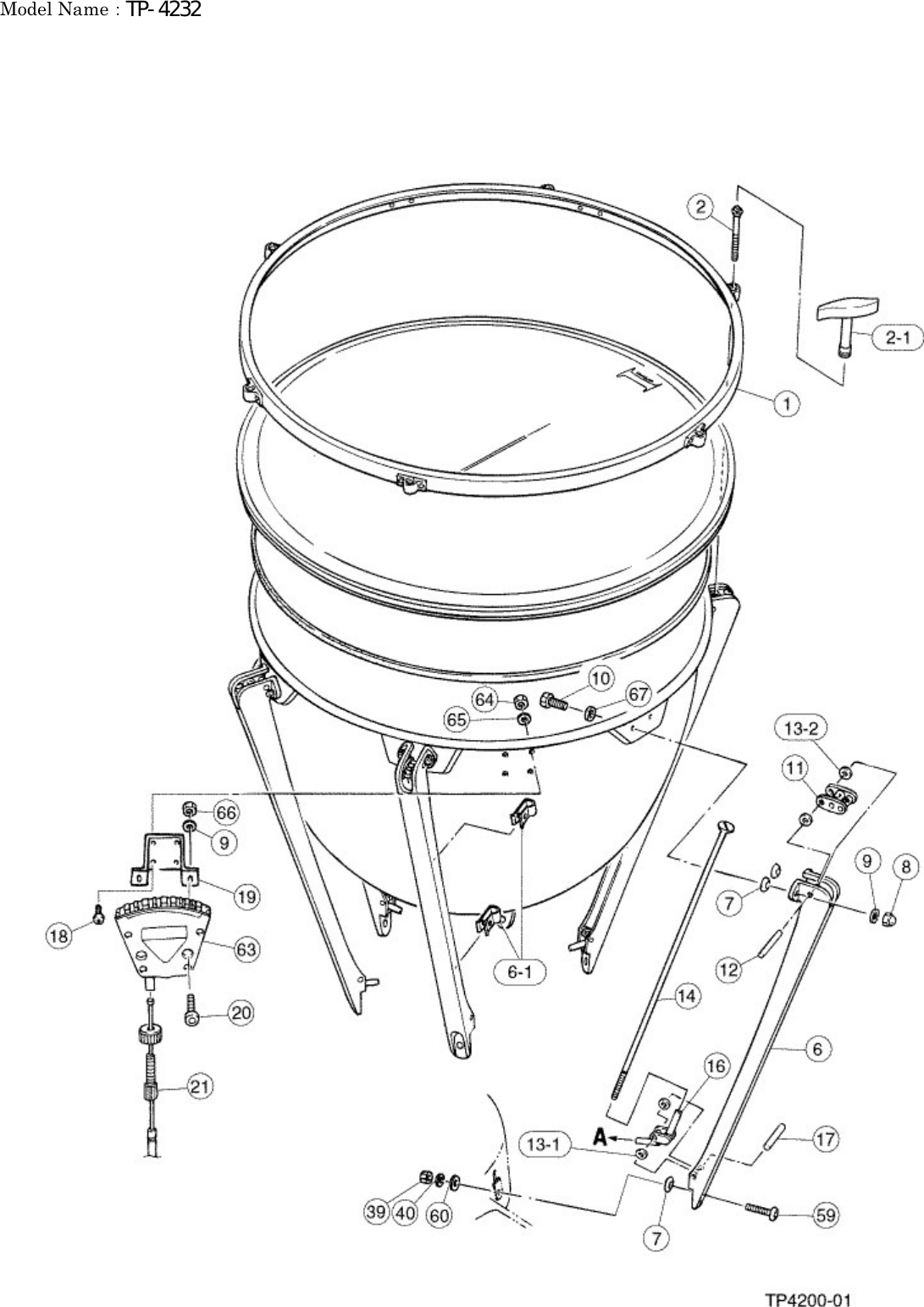 Yamaha PARTS TP 4232 Diagram