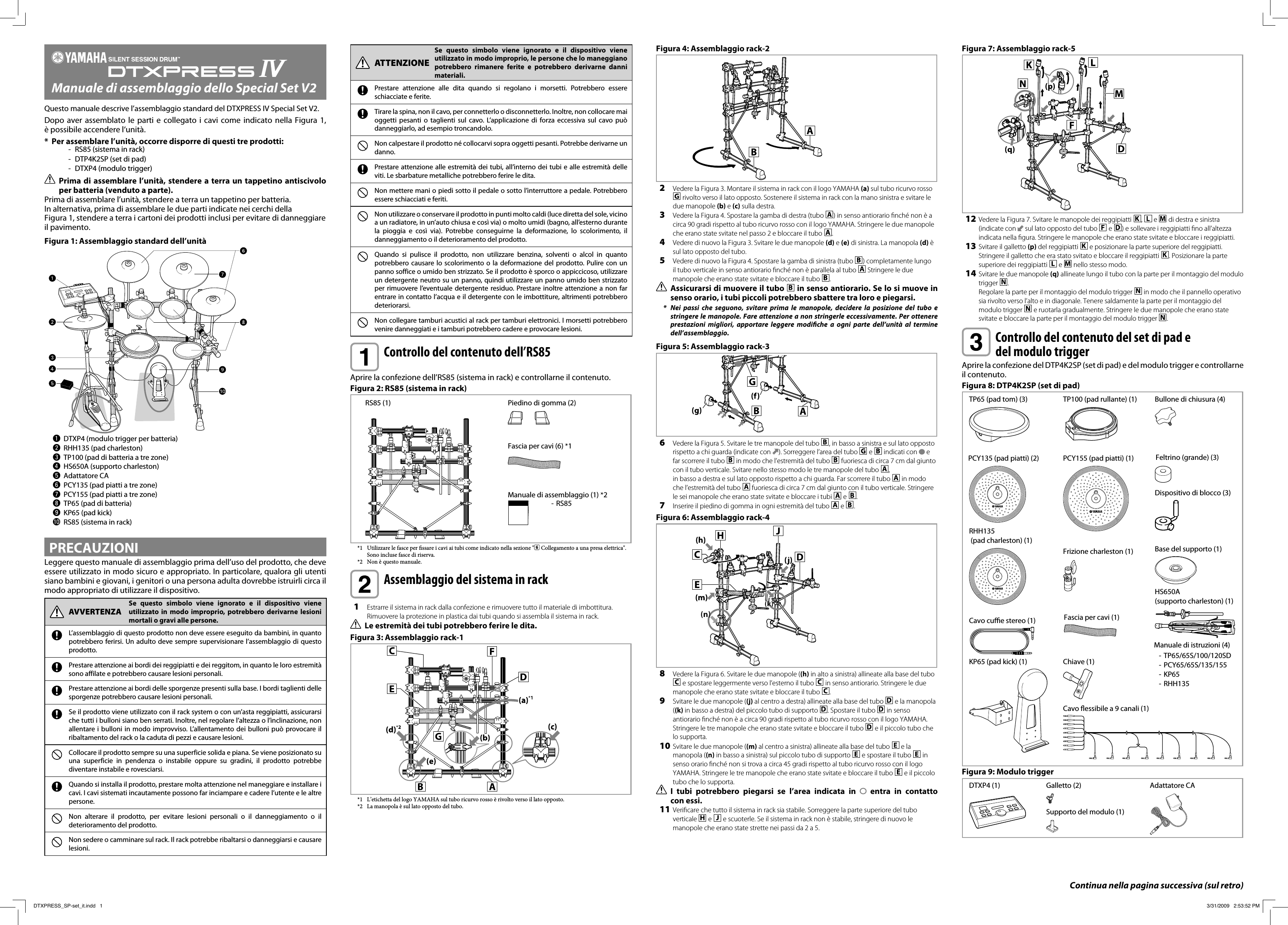 Yamaha DTXPRESS IV Special Set Assembly Manual Dtxp4sp It