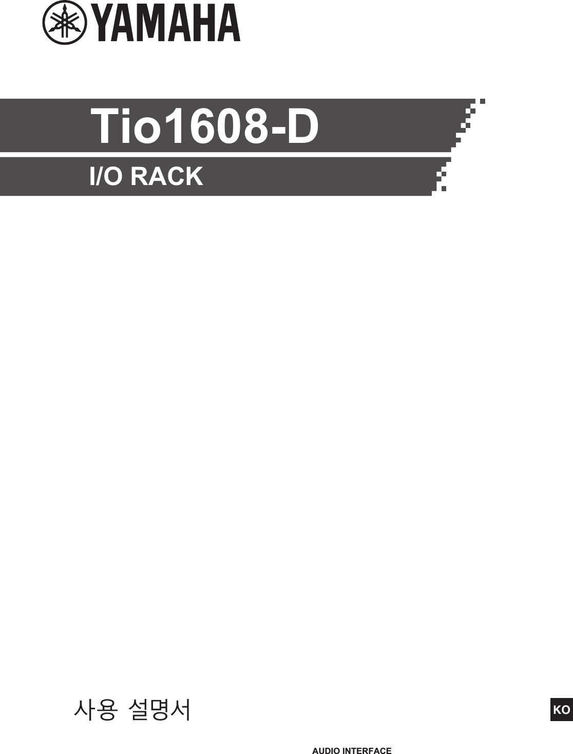 Yamaha Tio1608 D Owner's Manual Tio1608d Ko Om C0
