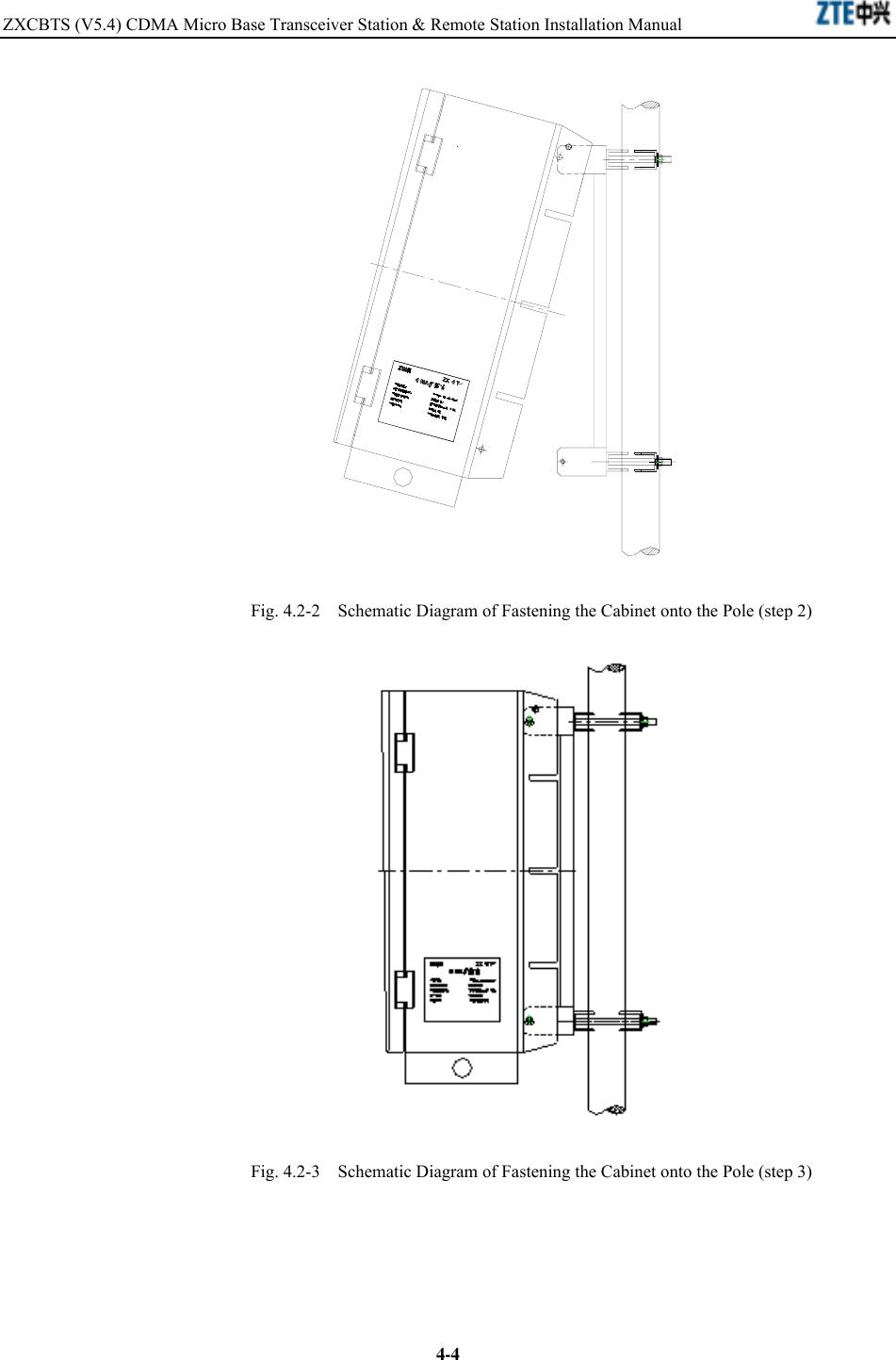 ZTE ZXCBTS192T CDMA Micro Base Transceiver Station User Manual