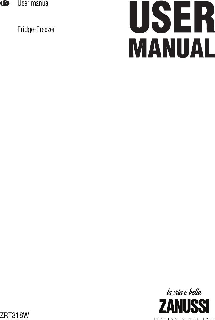 Zanussi Zrt318W Users Manual